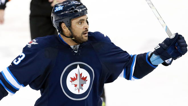 Winnipeg Jets defenseman Dustin Byfuglien has 45 points this season.