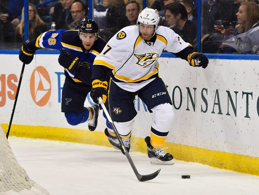 USP NHL: NASHVILLE PREDATORS AT ST. LOUIS BLUES S HKN USA MO