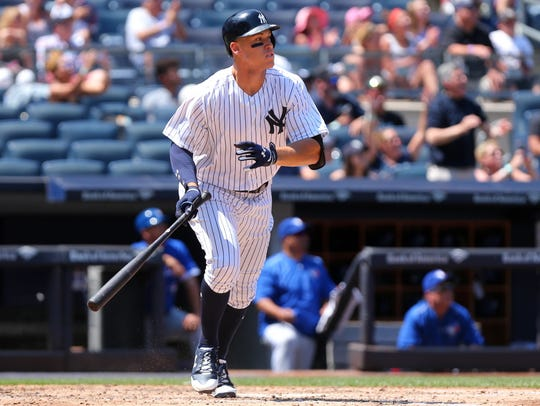 The majors' home run leader with 29, Judge recently