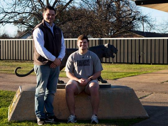 Oak Grove offensive lineman Joshua Mote and his father