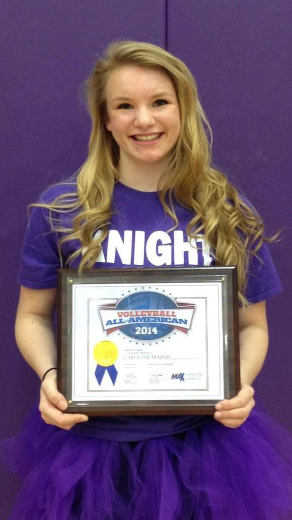 North Henderson junior Caroline Marsh was named a MaxPreps All-American twice as a sophomore.