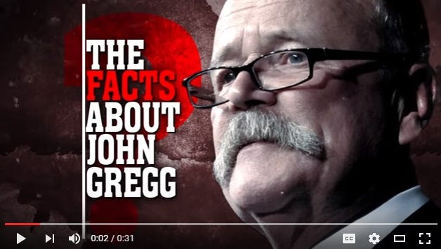 Screenshot of new television advertisement from the Republican Governors Association.