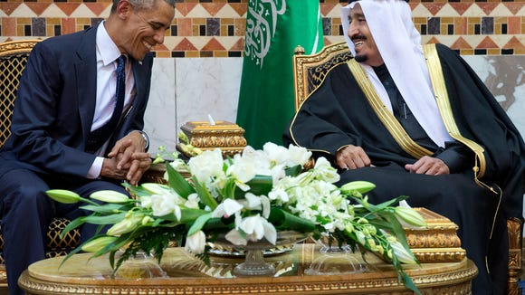 President Obama meets Saudi Arabian King Salman in