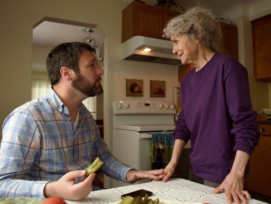 "Jon Dore and Lynn Cohen star in ""The Pickle Recipe."""