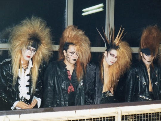 A young X Japan sport their signature 'visual kei'