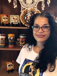 Michelle Cuevas creates unique, hand-painted ceramics.