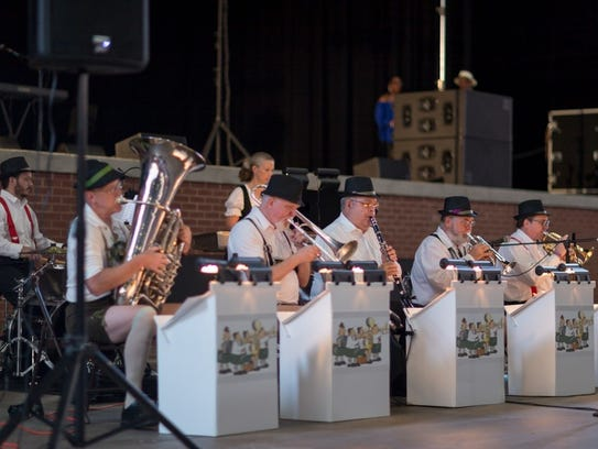 Bavarian oompah band will perform Friday at the Pavilion
