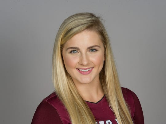 Texas A&M volleyball player Hollann Hans