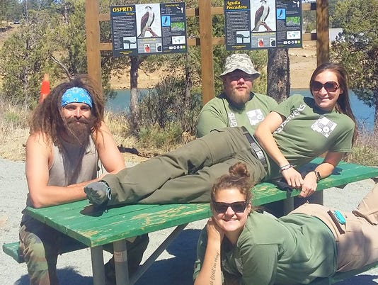 ecoservants working at osprey viewing areas