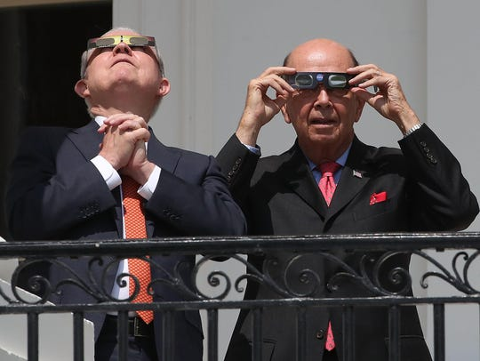 Attorney General Jeff Sessions, left, and Commerce