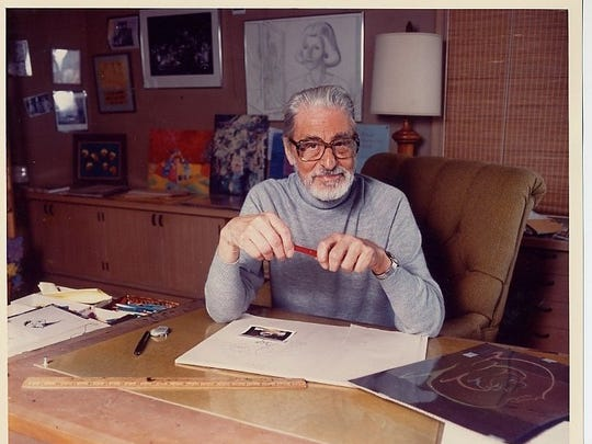 Theodor 'Ted' Seuss Geisel before his death in 1991.