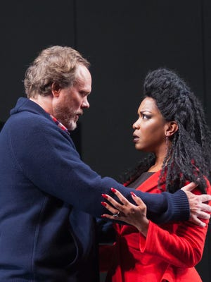 """Andrew Garman and Jessica Frances Dukes in """"Macbeth"""" at Actors Theatre of Louisville."""