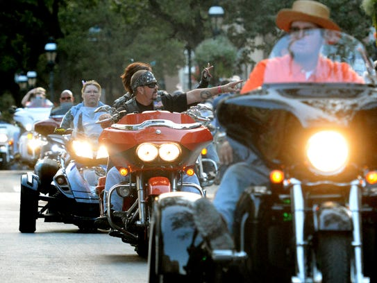 Hundreds of motorcyclists join in the York Bike Night