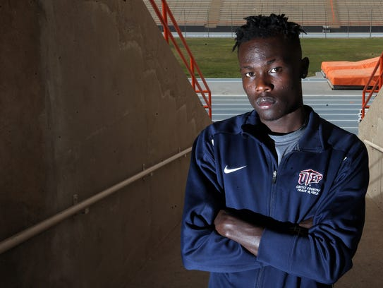 UTEP distance runner Michael Saruni was the CUSA track