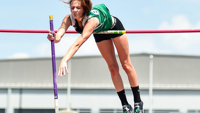 Margaretta's Kassidie Stimmel, who qualified to state her first three years, cleared 12-9 at the Vermilion Invitational.