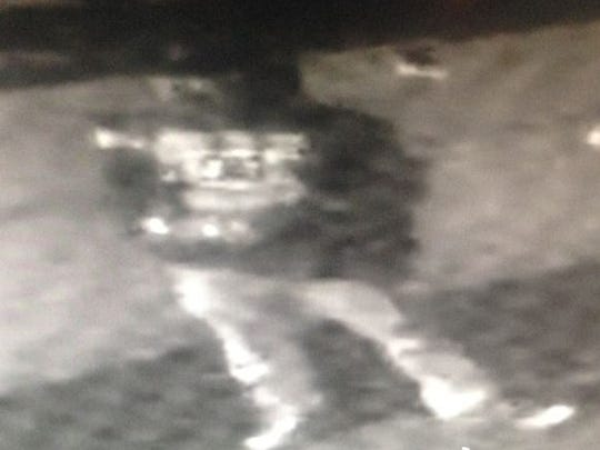 Surveillance cameras caught three vandals in the act Friday in downtown Palm Springs, and police hope the public can help identify the subjects.