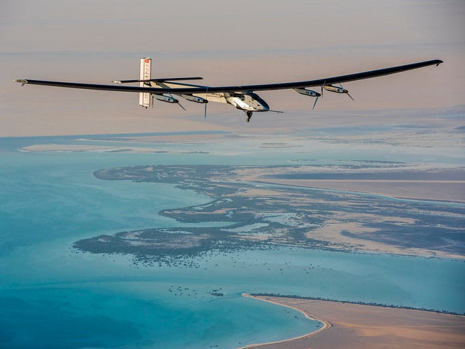 The Solar Impulse 2, the only solar single-seater airplane