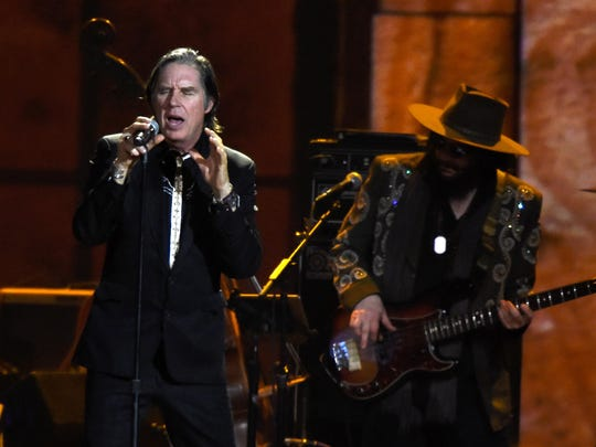 Singer John Doe performs at the 25th anniversary MusiCares 2015 Person of the Year Gala honoring Bob Dylan.