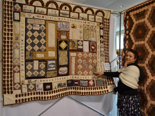 """Deborah Olivero of Millville, a member of the Garden Patch Quilt Club, entered this quilt entitled """"Civil War Grave Yard"""" in the """"A Garden of Quilts"""" show held Saturday and Sunday at Wheaton Arts in Millville."""
