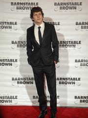 Actor Jesse Eisenberg on the red carpet at The Barnstable-Brown