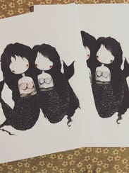 Mermaids live in their own little world in these drawings