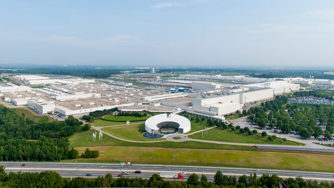 An aerial view of the BMW plant in Spartanburg County in 2013.