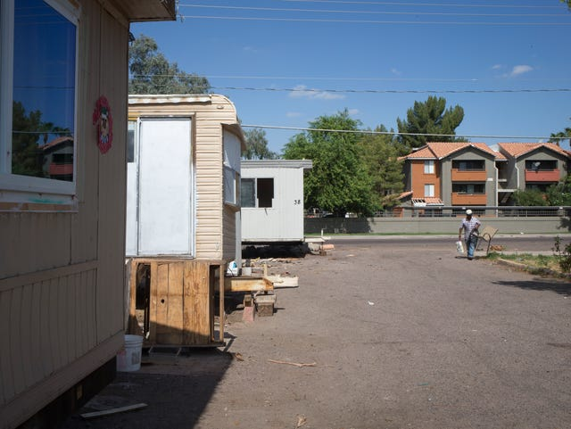 As land values rise in Phoenix area, mobile-home parks disappear