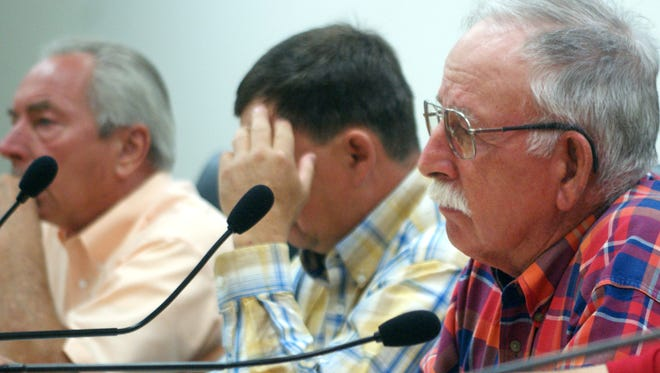 Luna County Commissioner John Sweetser, foreground, also sits on the CAP Entity board which met Thursday, July 6, in Silver City, NM.