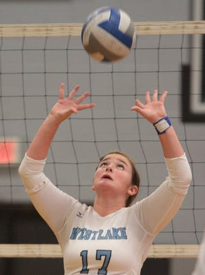 Westlake setter Stephanie Rizzo will look to lead the Wildcats back into the section finals, only this time in Class B. Sept. 29, 2014.