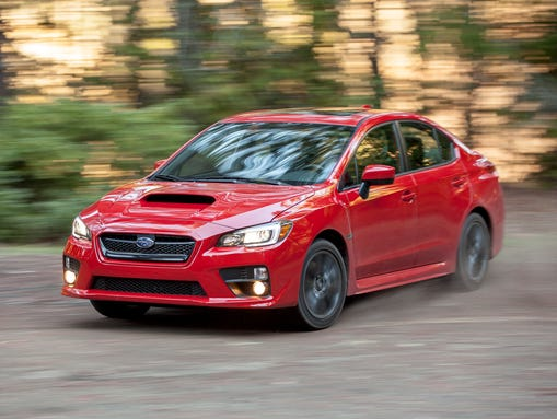 The 2015 Subaru WRX, tied for fastest-selling car in