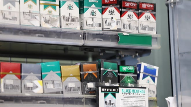 The New England Convenience Store and Energy Marketers Association said a Massachusetts ban menthol and mint cigarettes, which took effect June 1, has pushed sales to neighboring states, including New Hampshire and Rhode Island.