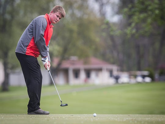 Teams compete in the Delaware County Boys Golf Tournament