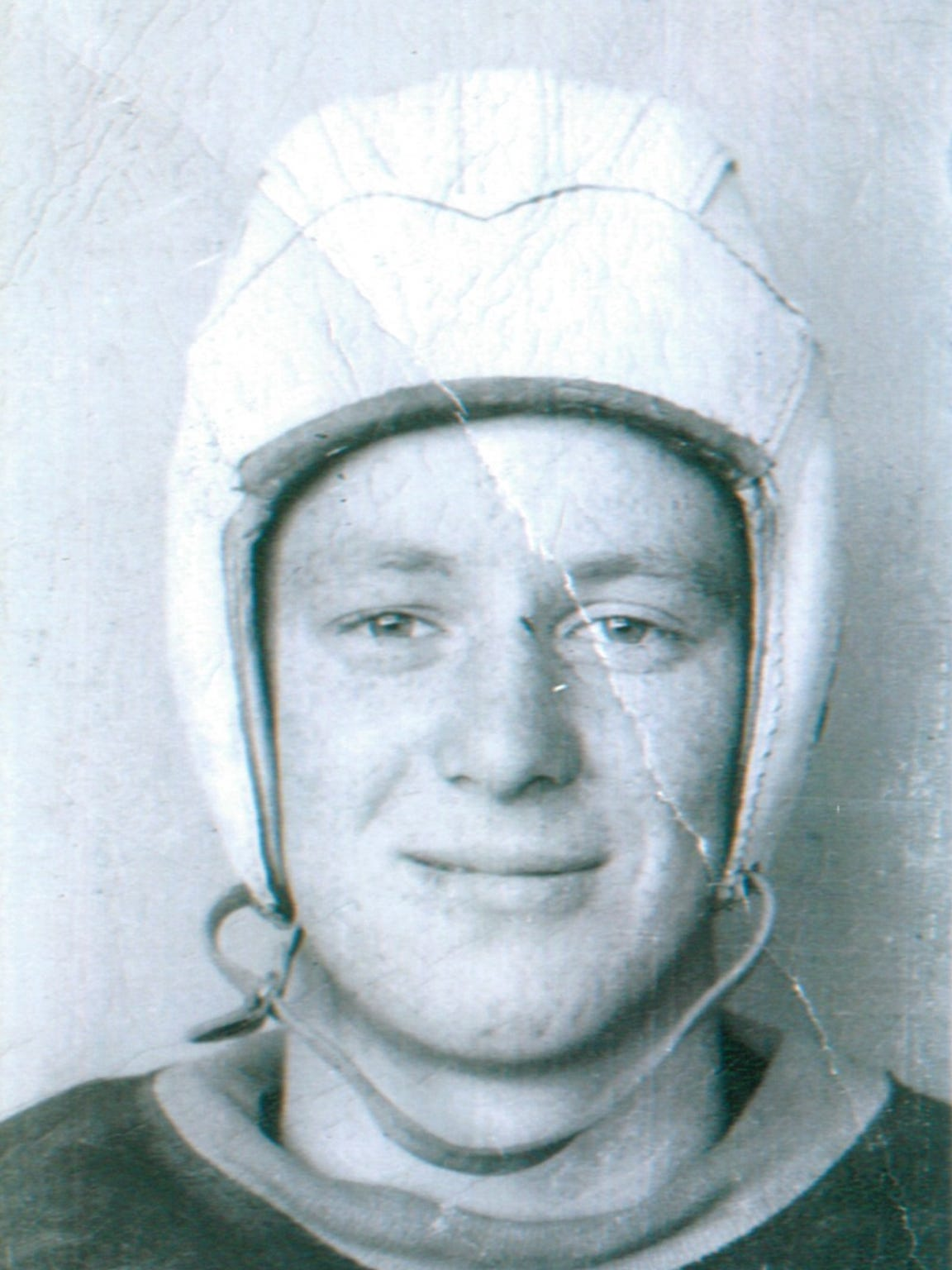 Bud Bodenhamer in his Bomber football uniform, circa
