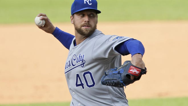 The Kansas City Royals traded relief pitcher Trevor Rosenthal to the San Diego Padres on Saturday for outfield prospect Edward Olivares and a player to be named later.