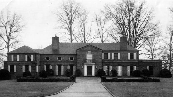 The Eugenia Williams home in 1957