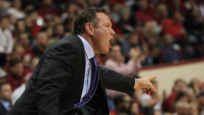 Grand Canyon Antelopes head coach Dan Majerle reacts during the first half against the Indiana Hoosiers at Assembly Hall.