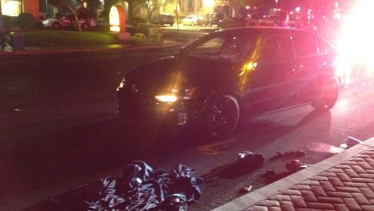 Cathedral City police are investigating a collision involving a pedestrian Thursday night on Date Palm Drive.