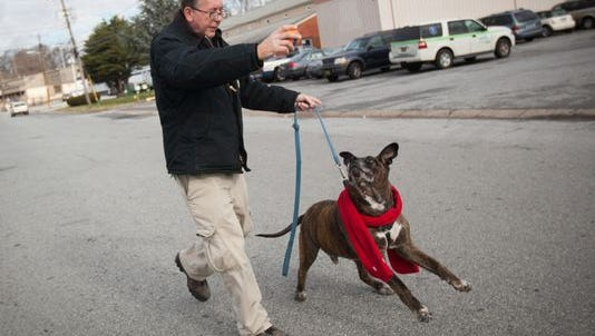 Pete Buchmann walked 5 miles a day to visit Buster in Wilmington, Del.