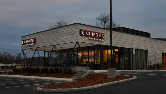 The new Chipotle opened Saturday on Hendersonville Road.