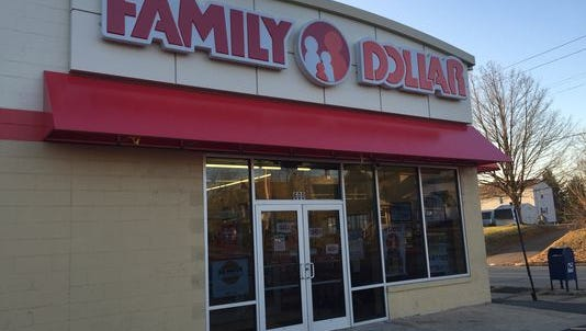 The Family Dollar at 64 Lexington Ave. was robbed early Wednesday. (Photo: Chike Erokwu / News Journal)