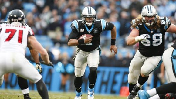 Panthers quarterback Cam Newton (1)