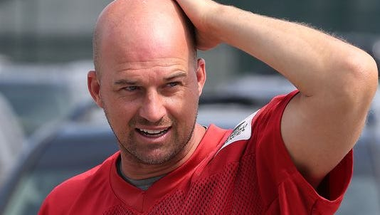 Indianapolis Colts backup quarterback Matt Hasselbeck got a little drug test on Monday.