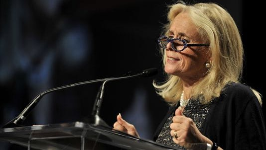 Debbie Dingell speaks to supporters after she wins the 12th U.S. House seat Tuesday evening.
