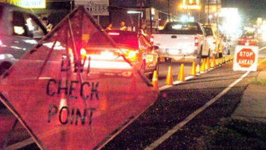 OWI checkpoint