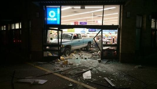 Thieves slammed a pickup into Northeast Portland Walgreen to steal an ATM machine.