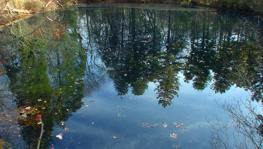 The legendary Blue Hole, located deep in the Pine Barrens of Winslow on the line between Camden and Gloucester counties, is said to be a frequent pit stop of the Jersey Devil.