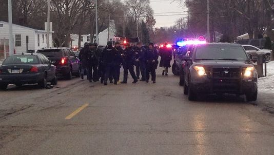 Police respond to a officer-involved shooting in Wyoming near Jefferson Ave. and Abbie St. SE.