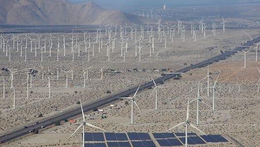 Windmills long I-10.