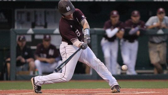 Mississippi State catcher Gavin Collins will miss 3 to 5 weeks with a hand injury.