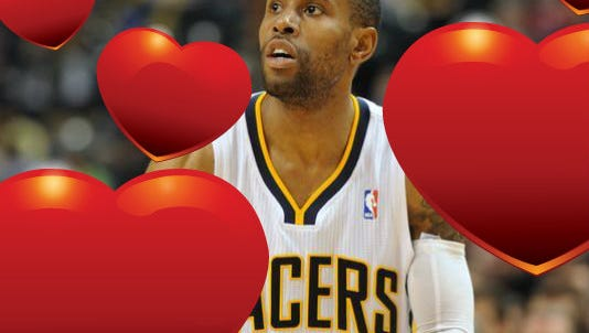 Indiana Pacers guard C.J. Watson is a Valentine's Day backer.